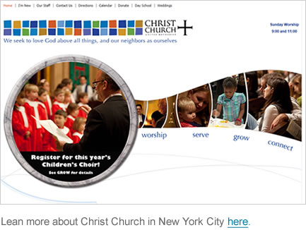 church web design christ church