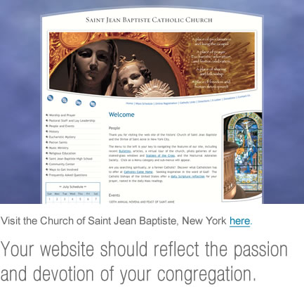 church web design of saint jean baptiste